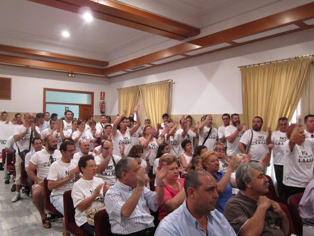 Trabajadores De Locsa Y ABB En El Pleno Del Ayuntamiento De Córdoba