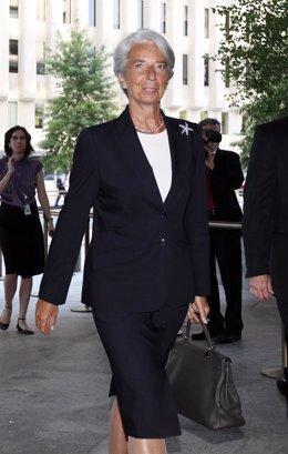 Christine Lagarde A Su Llegada Al FMI