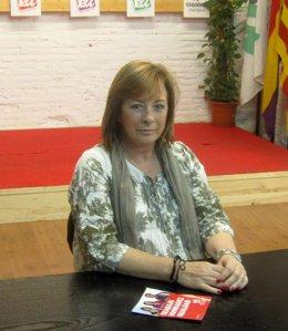 La Coordinadora General De EUPV, Marga Sanz, En La Sede Del Partido