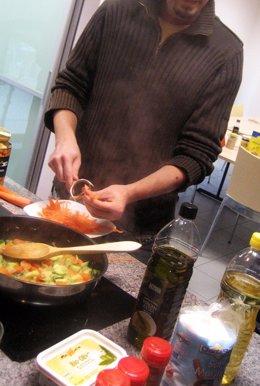Cocinando en la cocina