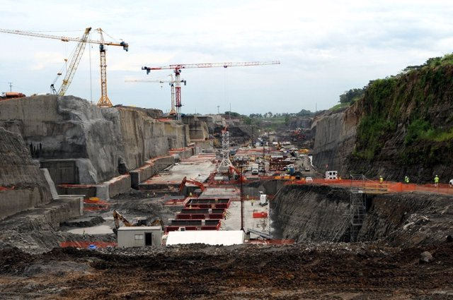 Imagen De Las Obras De Ampliación Del Canal De Panamá