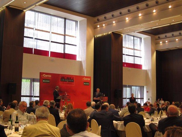 El Ministro De Fomento, José Blanco, En La Conferencia Organizada Por El Correo
