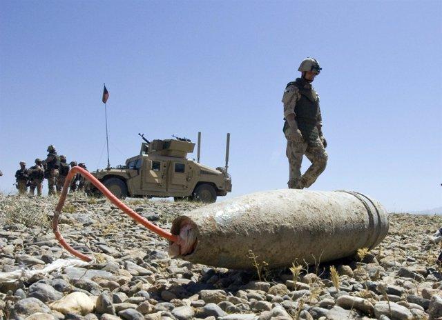Un Artefacto Explosivo Improvisado (IED) En Algún Lugar De Afganistán
