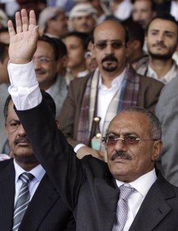 El Presidente Yemení, Alí Abdulá Salé