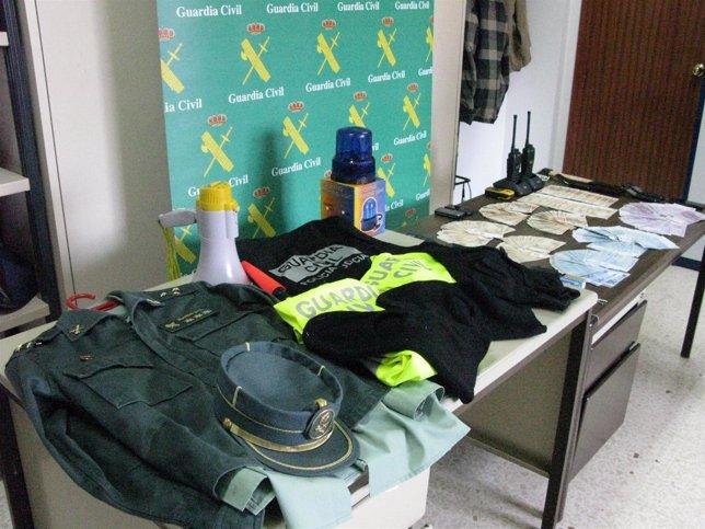 Material De La Guardia Civil Intervenido En La Operación 'Imperioso'