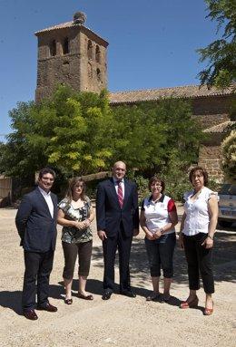 Carnero Con La Alcaldesa Y Dos Ediles De Quintanilla Del Molar