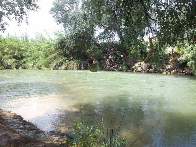 Un Joven Realiza El 'Big Jump' En El Río Segura