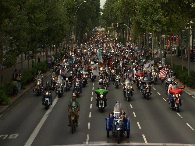 Desfile De Harley En Barcelona