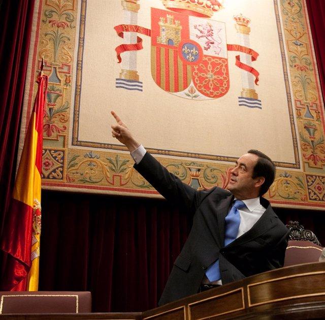 José Bono, Presidente Del Congreso, En El Salón De Plenos