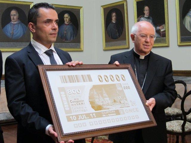 La Once Presenta Un Cupón Dedicado Al 800 Aniversario De La Catedral De Santiago