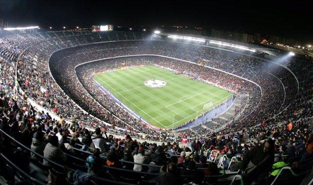 El Camp Nou en un partido de 'Champions'