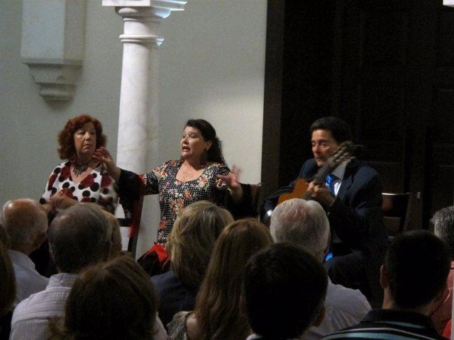 Celebración De La Fiesta Flamenca En El Museo Carmen Thyssen De Málaga