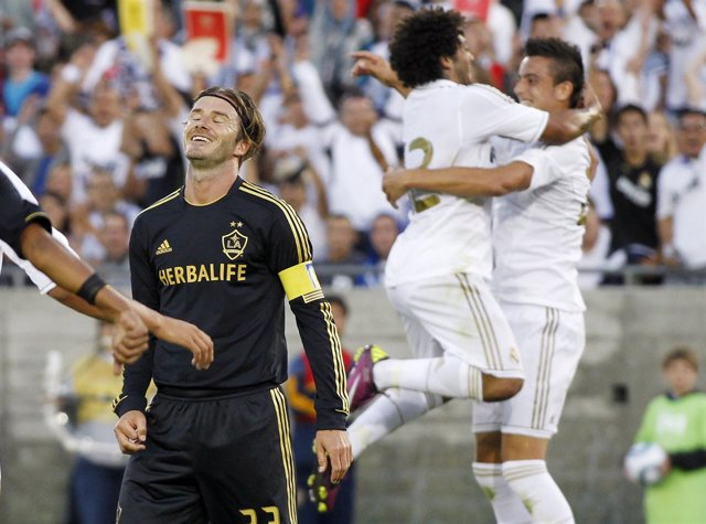 Cristiano Ronaldo, Marcelo Y Beckham, Real Madrid Contra Los Angeles Galaxy