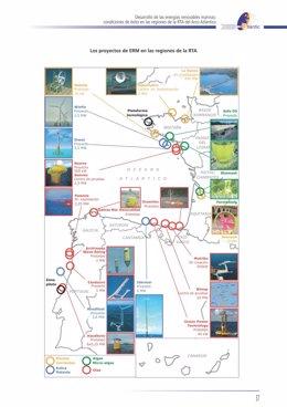 Estudio energías renovables marinas del Atlántico.