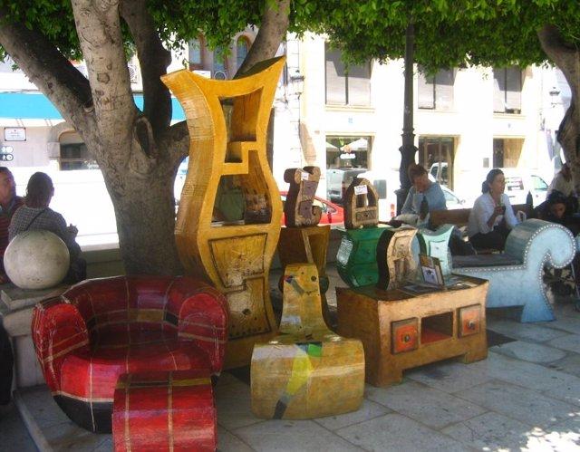Muebles De Madera Del Mercadillo Medieval Del 2010