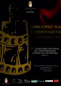 Cartel Del Concurso Nacional De Cortometrajes Ciudad De Antequera