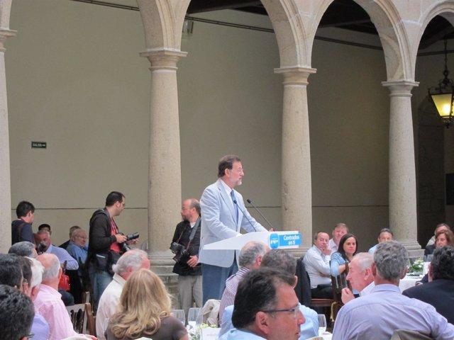 Mariano Rajoy En Santiago En Un Acto Con Los Candidatos Gallegos Del PP