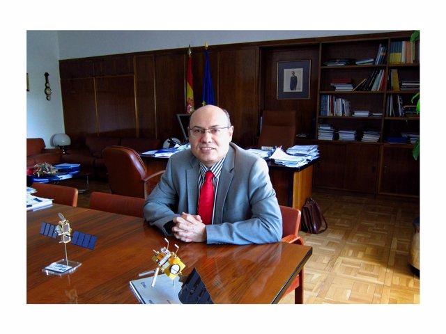 El Presidente De AEMET, Ricardo García Herrera, En Su Despacho.