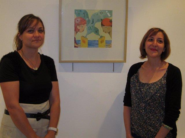 La Concejal De Cultura, Gozo Merino, Y La Ilustradora Beatriz Barbero-Gil