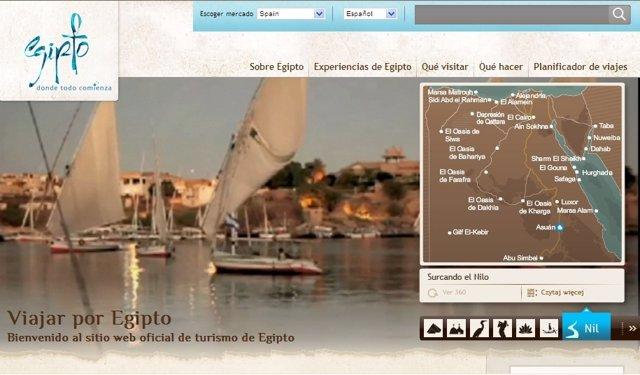 Nueva Página Web De La Oficina De Turismo De Egipto