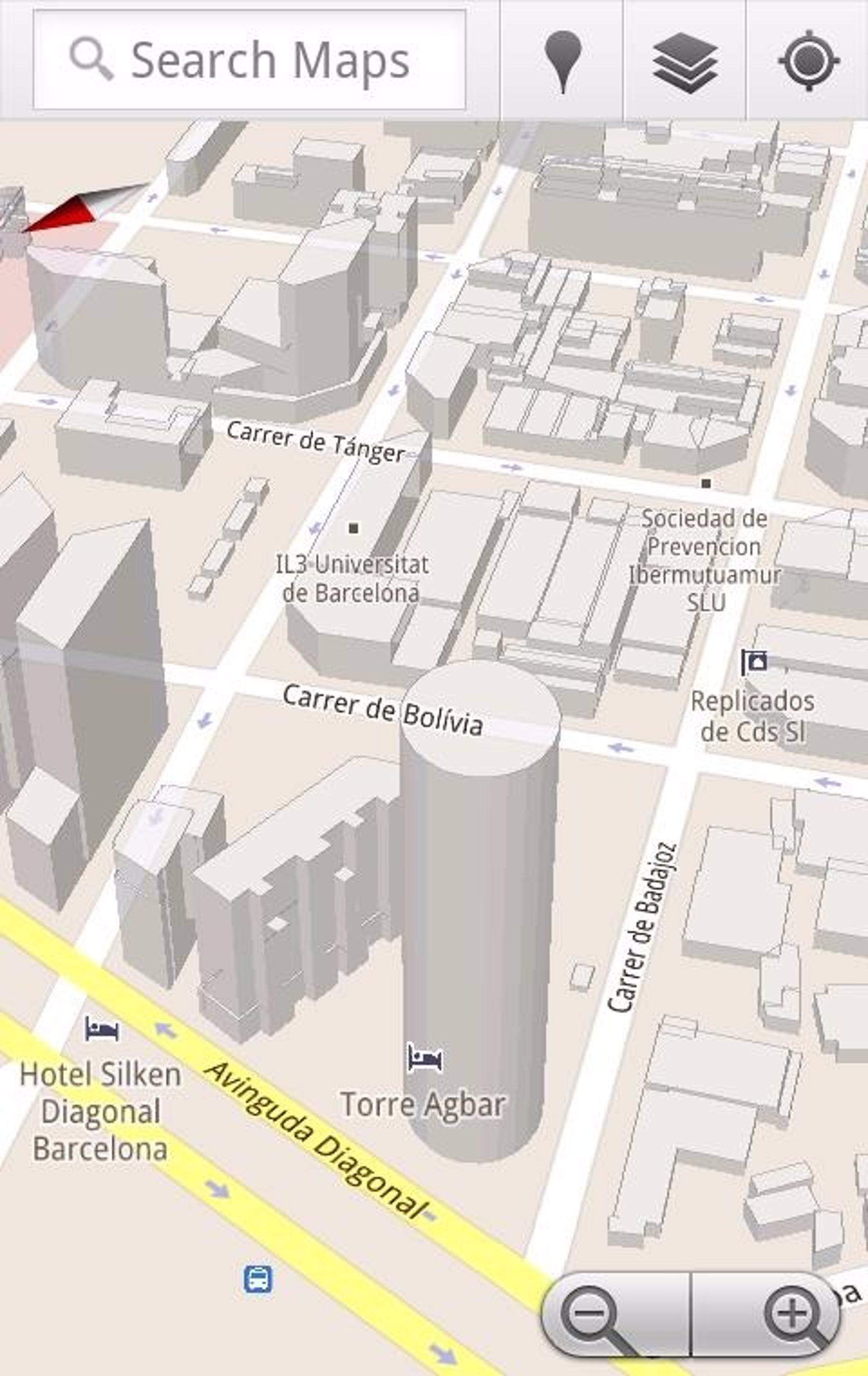 Barcelona crece en 3D dentro de Google Maps para Android