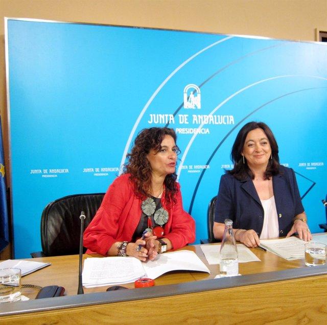 María Jesús Montero Y Mar Moreno Tras El Consejo De Gobierno