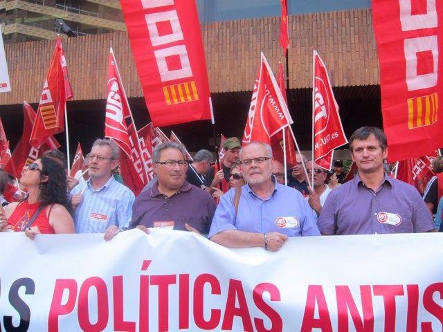 Paco Molina (CCOO PV) Y Conrado Hernández (UGT-PV)