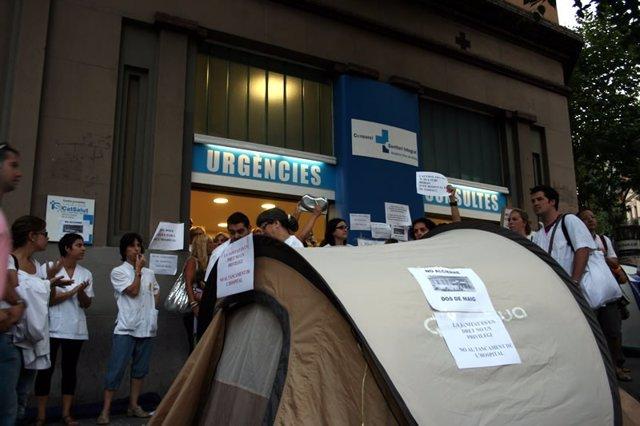 Acampada Hospital Dos De Maig De Barcelona