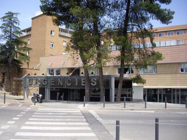 Fachada Urgencias Hospital Arnau de Vilanova de Lleida
