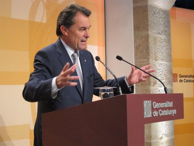 Artur Mas, En Rueda De Prensa