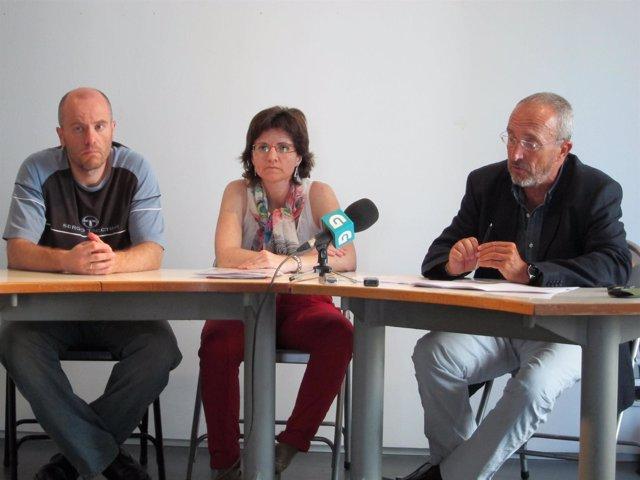 Luis Jerez, María Abuín Y Manuel Martín En Rueda De Prensa De SOS Sanidade Púbic