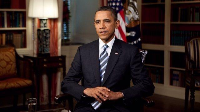 Obama Se Dirige A Los Ciudadanos En La Casa Blanca