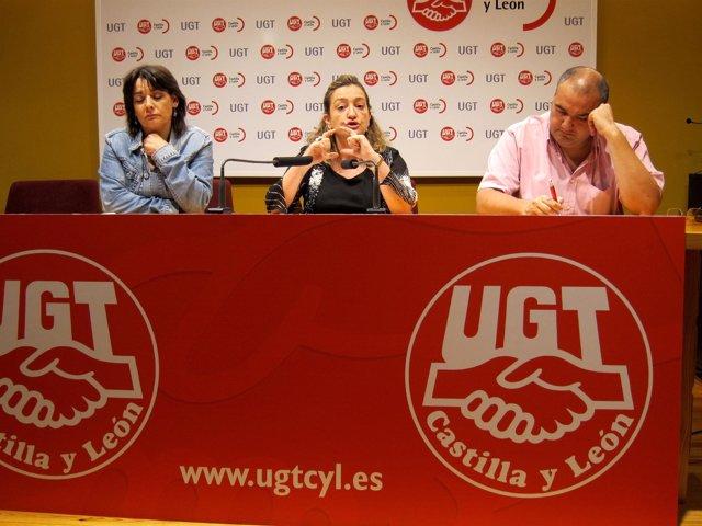Responsables De UGT En Su Comparecencia De Análisis Sobre La Sanidad En Cyl