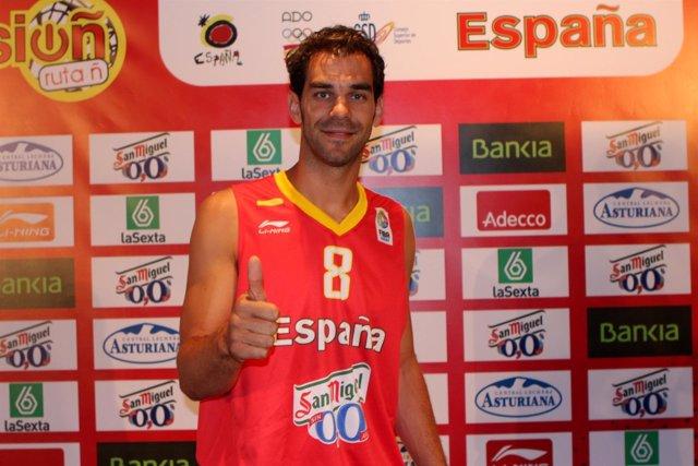 Jose Manuel Calderón. Presentación Camiseta Eurobasket