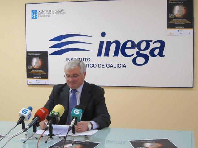 El director del Inega, Eliseo Diéguez