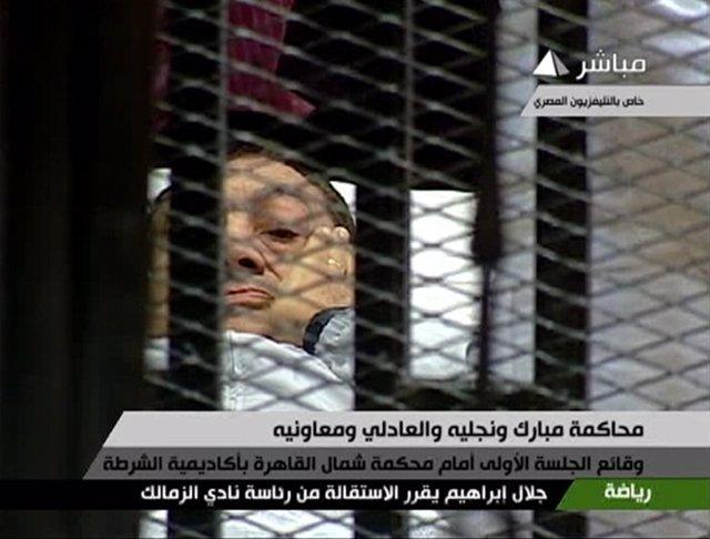 Imagen Del Ex Presidente De Egipto Hosni Mubarak