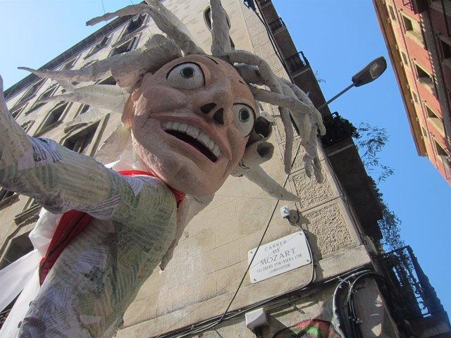 Decorado De La Calle Mozart, En Gràcia
