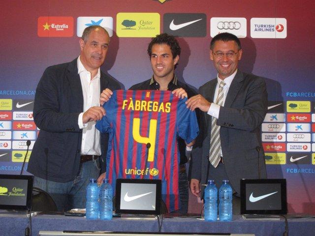 Presentación De Cesc Fabregas
