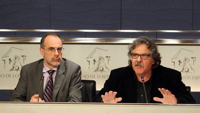 Joan Ridao y Joan Tardà (ERC) en el Congreso