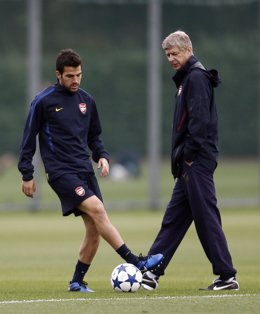 Arsene Wenger y Cesc Fábregas