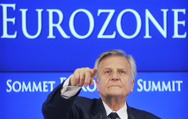 El Presidente Del Banco Central Europeo, Jean Claude Trichet