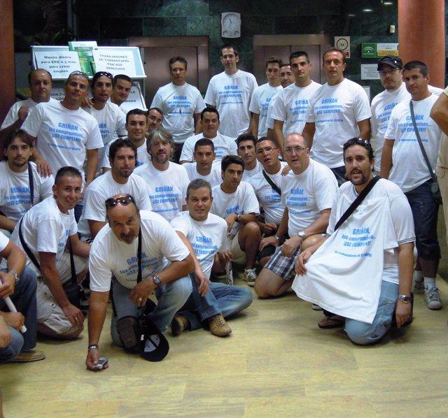 Encierro De Extrabajadores De Torraspapel, En Algeciras (Cádiz)