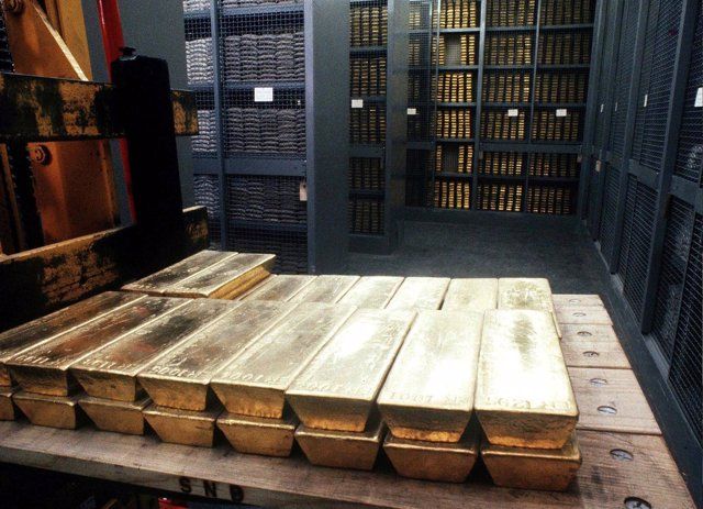 Recurso de un lingote de oro