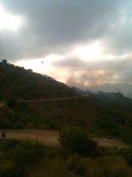 Incendio En La Sierra De Atamaría (Cartagena)