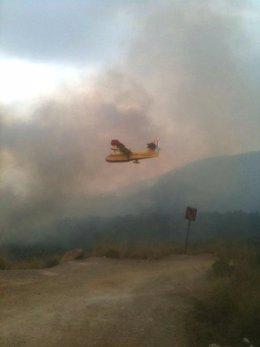 Efeectivos Aéreos En Un Incendio