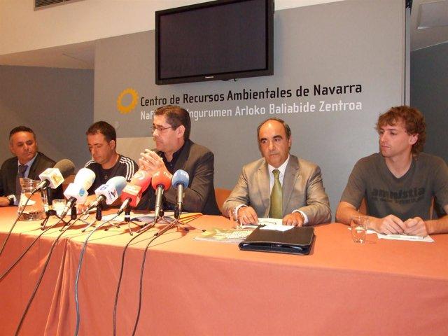 Igea, Marco, Eciolaza, Pangua Y Ortega, En La Firma Del Convenio.