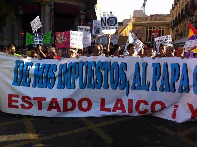 Manifestación Laica
