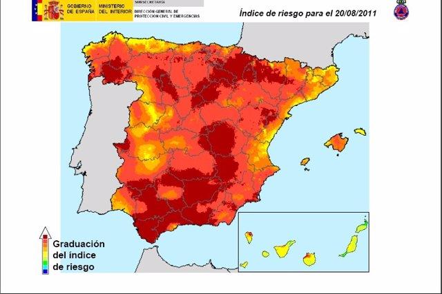 Mapa Del Riesgo De Incendios