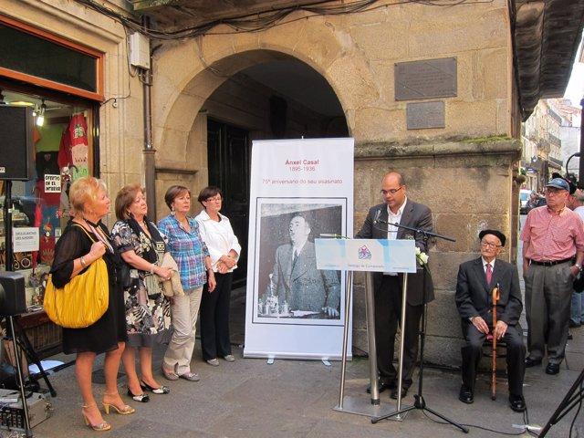Homenaje A Ánxel Casal, Primer Alcalde Nacionalista De Santiago