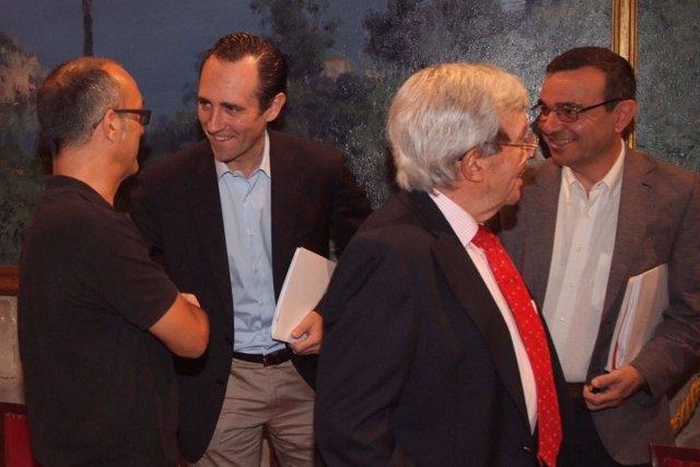 José Ramón Bauzá Y Pep Ignasi Aguiló Se Reúnen Con El Sector Económico